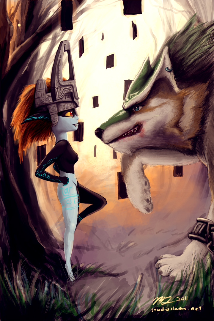 This is a fan art piece that I did based on Twilight Princess.